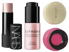 Get your rosy glow on with these pretty illuminators and a pretty pink blush.