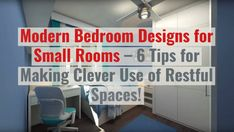 ideas for modern bedroom designs for small rooms. Making the best of small bedrooms. Houses are getting smaller as city housing space gets rarer. These tips should really help.