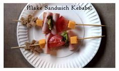 Have a fun lunch with your kids by making their sandwiches into kebabs instead!