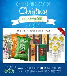 Day 2 - Win an Organic Movie Munchie Pack! @vivanischoko @wonderdrink #chips #chocolate #kombucha #healthfood #xmas #christmas #12DaysOfChristmas #12DaysOfGiveaways