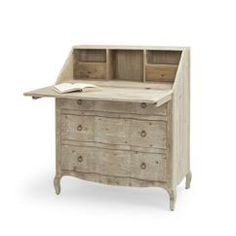 The Quill is a hand carved bureau desk. It is beautifully made from reclaimed fir with a beached timber finish. Worthy of the greatest literary works! Desk With Drawers, Chest Of Drawers, Small Study Table, Wooden Curtain Poles, Painted Bedroom Furniture, Luxury Curtains, Comfy Sofa, Wooden Desk, Wood Interiors