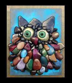 To order the owls ... write me a message or look for me on facebook www.facebook.com/MichelaBufalini.SassiArtistici  Each creation is a ...