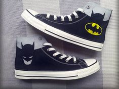 Batman Custom Converse Sneakers Hand Painted, 100% hand painted- 100% New Shoes About Cconverse Size: (Unisex Adults) Please choose size by checking our size conversion chart carefully. If you have a different design idea, please contact me and send me the pictures, i will give you an offer accor...