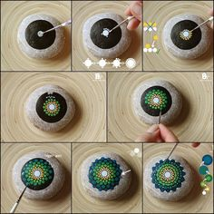 ▷ 1001 + creative and easy ideas for painting stones mandala stones . - ▷ 1001 + creative and light ideas for painting stones Design your own mandala stones, gr - Dot Art Painting, Rock Painting Designs, Mandala Painting, Pebble Painting, Pebble Art, Paint Designs, Stone Painting, Painting Flowers, Mandala Art