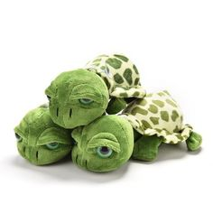Plush Toy - Big Eyed Green Turtle Tortoise for Baby Nursery, Childrens Bedroom 20cm