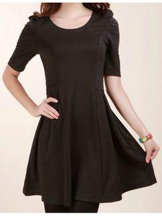 Beaded Puff Shoulder Dress
