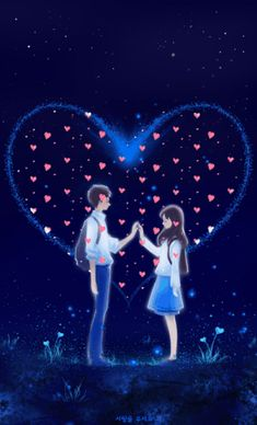 Romantic Love Images, Love Wallpapers Romantic, Cute Love Pictures, Cute Love Gif, Cute Wallpapers, Love Cartoon Couple, Cute Couple Art, Cute Love Cartoons, Anime Love Couple