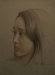 Buy Portrait of chinese girls, a Pencil on Paper by William Wu from CN. It portrays: Portrait, relevant to: beautiful, portrait, women, colored pencil, Classic art, drawing, art Size: 37.5cmx55cm   Material: Colored pencil on paper