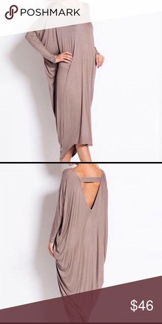 🆕 SEXY TAN BAT SLEEVE DRESS 🆕 sexy tan wrap dress. Imported, cotton/polyester. Reasonable offers/bundles welcome, no trade. My environment is clean/organized/pet/smoke free. Please make any inquires, all sales are final at PM. Thank you for shopping my boutique. DARLING Dresses Midi