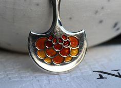 David-Andersen. Anheng i sterling sølv, med emalje. Vintage
