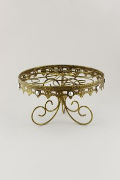 Metal Cake Stand Gold 7.75in