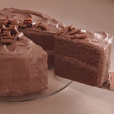 Old Fashioned Chocolate Cake with Glossy Chocolate Icing A