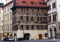 Franz Kafka's childhood home in Prague.