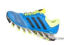 ca20eb5e8001 Mens Adidas Springblade 4 Running Shoes Sky Blue Fluorescent TopDeals
