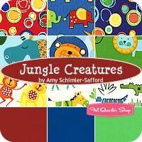 Jungle Creatures Fat Quarter BundleAmy Schimler-Safford for Robert Kaufman Fabrics