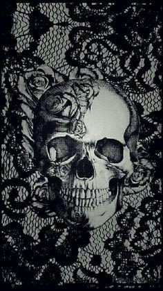 iPhone wallpaper #skull #dark