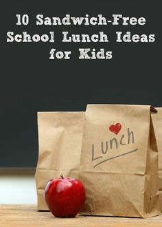 10 Sandwich-Free School Lunch Ideas for Kids (and moms too!) When your kid won't eat sandwiches