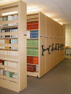 High Density Library Shelving For Storage Of Books And Other Media