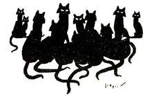 tekening van Jo Spier / drawing by Jo Spier Boekillustratie Sculpture Art, Sculptures, Cat Sketch, Cat Art, Kitty, Ink, Drawings, Cats, Dutch