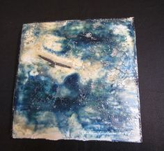 Windy day 1 encaustic shellac burn by Melissa Eastham www.encastucdreams.com