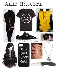 """Durarara (Oc)"" by doodlebob3 ❤ liked on Polyvore featuring Marc by Marc Jacobs, Cheap Monday, Converse, Repossi and Topman"
