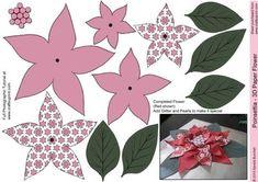 Deep Pink Poinsettia - 3D Paper Flower