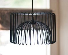 pendant light made from Ikea bowl