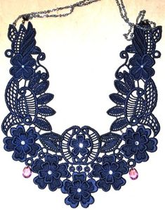 Advanced Embroidery Designs. Free-Standing Lace  3D Necklace.