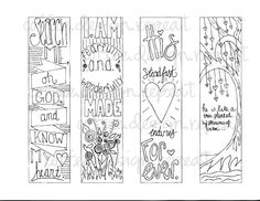 Bible Journaling Traceable Sidebars Set of by CoffeeDesignRepeat