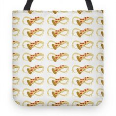 Pizza Forever White Tote #pizza #infinity #food #cheese #lol #tote