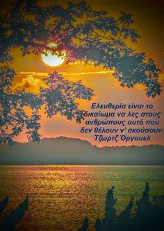 Greek Quotes, Aquarius, Celestial, Sunset, Words, Outdoor, Goldfish Bowl, Outdoors, Aquarium