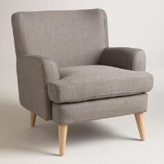 Dolphin Gray Blakely Chair World Market midcentury collection Living Room Plan, New Living Room, My New Room, Living Room Chairs, Home And Living, Living Room Furniture, Chair And Ottoman, Armchair, World Market Chair