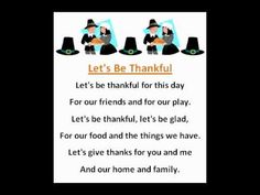 Let's Be Thankful (Thanksgiving Poems)