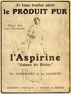 Aspirin: would be cute for vintage medicine cabinet project!