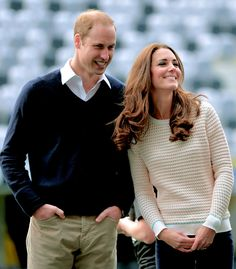 The Duke and Duchess of Cambridge attend 'Rippa Rugby' in the Forstyth Barr Stadium on day 7 of a Royal Tour to New Zealand on April 13, 2014 in Dunedin, New Zealand.