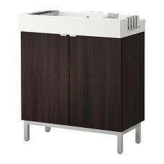 LILLÅNGEN Sink cabinet with 2 doors IKEA Can be used as a shelf for a soap dish and toothbrush mug, thanks to the shape of the  edge. 179.99