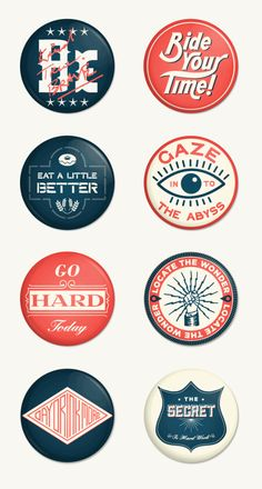 Badges hand lettering logo type typography vintage retro design print poster graphic illustrations