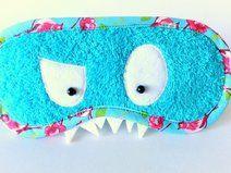 Monster Schlafmaske türkis