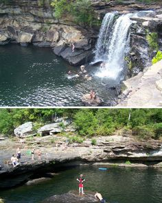 Little River Canyon in Alabama...great place to swim