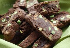 AM approved - Chocolate Pistachio Biscotti - very good #baking #breakfast
