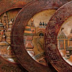 Декоративные тарелки. Сергиев Посад. 1900-е годы.