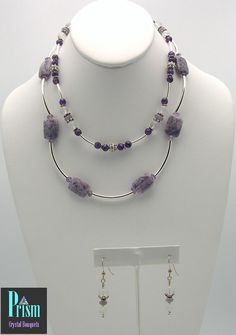 Posh Purple Necklace Set by PrismBouquets on Etsy, $85.00