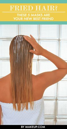 Damaged hair happens, but luckily you don& have to live with fried locks. Hair masks are the best way to add an moisture to fried, dry hair, so here are our picks for the best hair masks that you should try to get your hair& health back on track. Best Hair Mask, Diy Hair Mask, Hair Masks For Dry Damaged Hair, Damaged Hair Repair, Fried Hair, Hair Remedies, The Bikini, Hair Health, Grow Hair