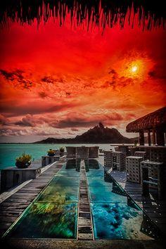 St. Regis, Bora Bora, Tahiti | Tim Moffatt | Flickr