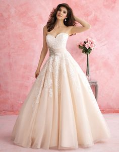 @Bellethemagazine wedding dresses | Allure Romance 2015 Collection | Floor Ivory Ball Gown Sweetheart $ ($1,000 or less)