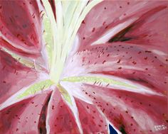 """Stargazer Lily"" painting by Brandi Miller"