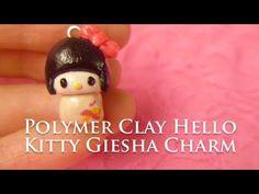 Polymer Clay Hello Kitty Geisha ! How to