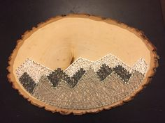 Mountain String Art por BWallStringArt en Etsy