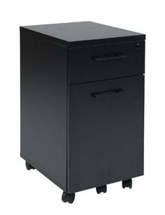 Prado Mobile File in Black with Hidden Drawer and Castors by Office Star. $257.25. Box/Box/File Drawers; One Hidden Box Drawer. One-key Locking. Black Finish. Locking Casters. Mobile Pedestal Laminate with Metal Drawer Pulls. 5th Caster for Support when File Drawer Extended. Dimensions:15.5W x 19.5D x 28H Some assembly may be required. Please see product details.