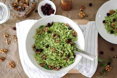 Broccoli Salad with walnuts and cranberries Brokkolisalat